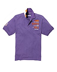 Jacamo Embroidered Applique Polo Long