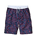 Jacamo Retro Floral Swimshort