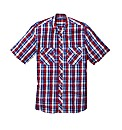 Jacamo Short Sleeve Grandad Shirt Long