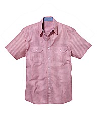 Jacamo Short Sleeve Stripe Shirt Regular