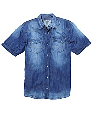 Jacamo S/S Denim Shirt Regular