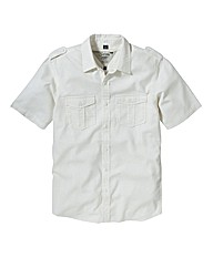 Jacamo Short Sleeve Linen Shirt Regular