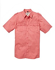 Jacamo Short Sleeve Linen Shirt Long