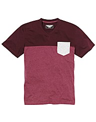 Label J Colour Block T-Shirt Long