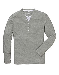 Jacamo Long Sleeve Layered T-Shirt Reg