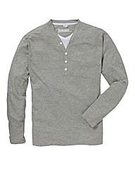 Jacamo Long Sleeve Layered T-Shirt Reg
