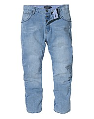 Jacamo Bleach Jeans 29In Leg Length