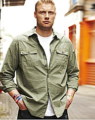 Flintoff By Jacamo Military Shirt Reg