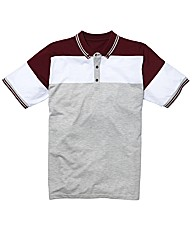 Jacamo Colour Block Polo Long