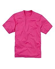 Jacamo Pink Basic Crew T-Shirt Long