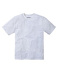 Jacamo White Basic Crew T-Shirt Reg