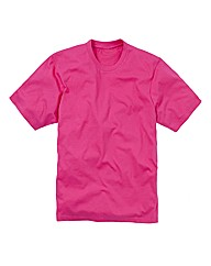 Jacamo Pink Basic Crew T-Shirt Long