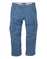 Jacamo Linen Cargo Pants 29In Leg Length