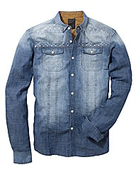 Mish Mash Denim Print Shirt