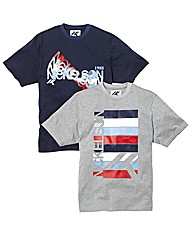 Nickelson Pack of Two Print T-Shirts