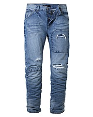 Jacamo Distressed Jeans 33 inches