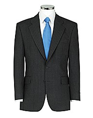 The Label Pinstripe Suit Jacket Long