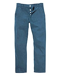Jacamo Stretch Petrol Chinos 29 Inch