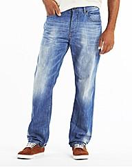 Jacamo Fashion Jeans With Webbed Belt S