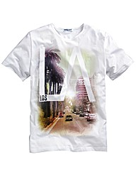 Label J LA Print T-Shirt Reg