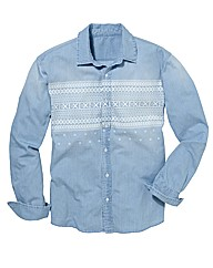 Label J Aztec Print Shirt Regular