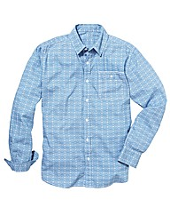 Label J Printed Poplin Shirt Regular