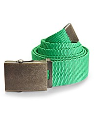 Label J Bright Canvas Belt