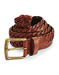 Jacamo Plaited Leather Belt