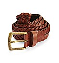 Jacamo Plaited Leather Belt