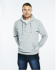 Flintoff By Jacamo 1/4 Button Hoody Reg