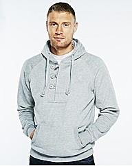 Flintoff By Jacamo 1/4 Button Hoody Long
