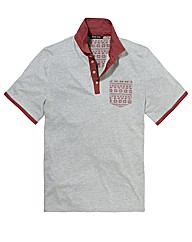 Label J Aztec Print Polo Reg