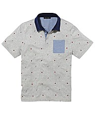 Label J Print Polo Long