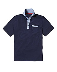 Jacamo Black Label Button Down Polo Long