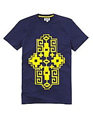 Label J Aztec Print T-Shirt Long