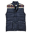 Label J Aztec Gilet Long