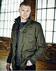 Flintoff By Jacamo Military Coat Long