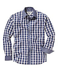 Jacamo Chambray Check Shirt Regular