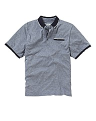 Jacamo Button Down Collar Polo Long
