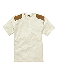 Label J Shoulder Panel T-Shirt Long
