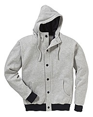 Jacamo Button Through Hoodie
