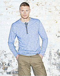 Flintoff By Jacamo Long Sleeve Tee Reg
