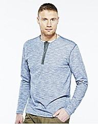 Flintoff By Jacamo Long Sleeve Tee Long