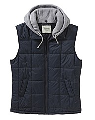Jacamo Detachable Hooded Gilet Long