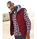 Jacamo Detachable Hooded Gilet Regular
