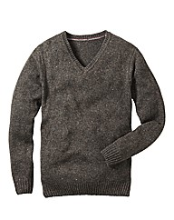 Flintoff By Jacamo V-Neck Sweater Reg