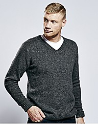 Flintoff By Jacamo V-neck Sweater Long