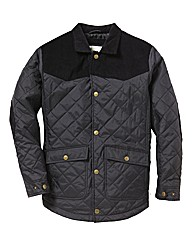 Jacamo Cord Trim Quilted Coat Long