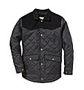 Jacamo Cord Trim Quilted Coat Regular