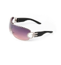 DG Designer Wraparound Smoke Sunglasses